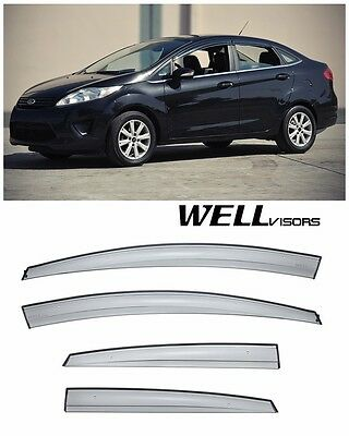 WellVisors For 11-19 Ford Fiesta Sedan Aerodyn Series Side Window Rain Visors comprar usado  Enviando para Brazil