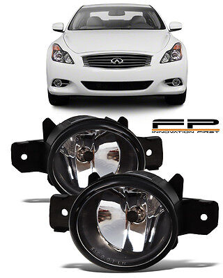 For 2011 Infiniti G37 Coupe Front Replacement Fog Lights Housing Clear Lens Pair (Infiniti G37 Coupe)