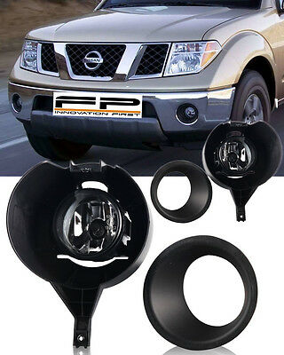For 2005 2016 Nissan Frontier With Metal Chrome Bumper Only Fog Lights Full Kit