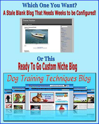 Dog Training Blog Website Self Updating Amazon Clikbank