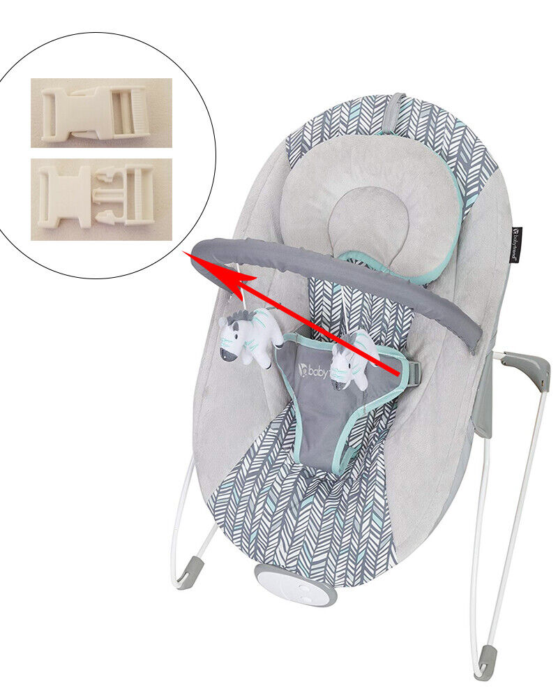 1 White Harness Seat Clip for BABY TREND Infant Rocker Bounc