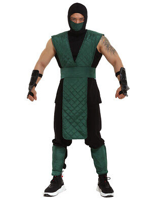 Mortal Kombat Reptile Cosplay Costume Green Suit with Mask - Mortal Kombat Costumes