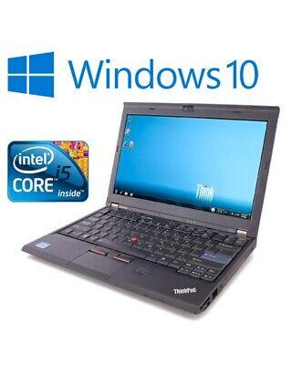 Lenovo Thinkpad X220 Laptop for Home Core i5-2450M 8GB RAM 120GB SSD Windows 10