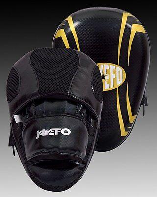 Jayefo Curved leather Focus Pads Mitts hooks Kick Boxing Muay Thai Taekwondo mma ()