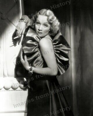 8x10 Print Marlene Dietrich Beautiful Fashion Portrait by William Walling #5641