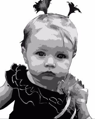 Portrait nach Foto, Auftragsmalerei, PopArt, Geschenk Idee, Baby, (Pop Art Ideen)