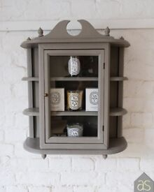 Re-loved (Extra Large) Display Cabinet Hand Painted in French Linen Chalk Paint