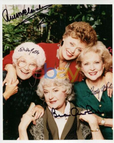 Golden Girls Cast Signed 8x10 Autographed Photo reprint