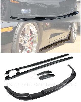 ZR1 ABS Plastic Front Lip Splitter & Side Skirts Panel For 05-13 Corvette C6 Z06 for sale  Castro Valley