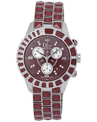 Dior Christal Stainless Steel Diamond Chronograph Ladies Watch - CD11431GM001