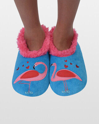 NEW Snoozies Slippers Women's Simply Pairable - FLAMINGO - M