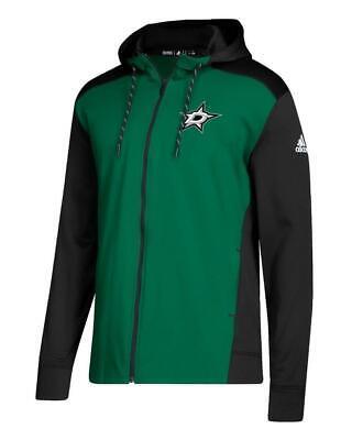 $85 ADIDAS DALLAS STARS NHL HOCKEY FULL ZIP HOODIE KELLY GREEN/BLACK CY5945 M