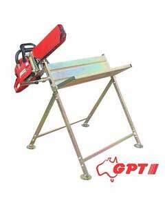 LOG SAW HORSE WITH CHAINSAW HOLDER | BRAND Avondale Heights Moonee Valley Preview