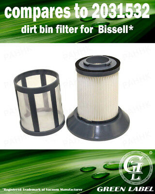 For Bissell Zing Bagless Dirt Cup Filter 2031532, 2031772. By Green Label](Dirt Cups)