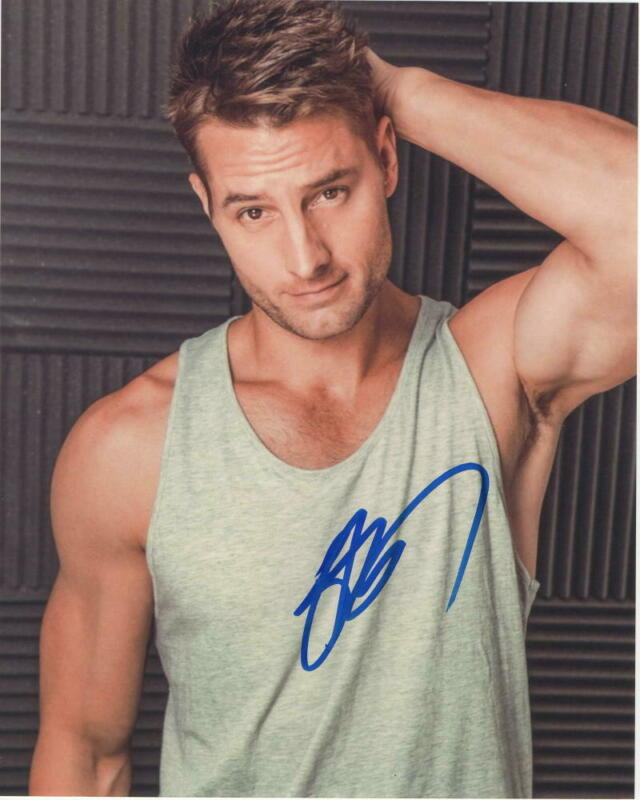 JUSTIN HARTLEY SIGNED AUTOGRAPHED 8X10 PHOTO - HOT, SEXY, THIS IS US STUD 1