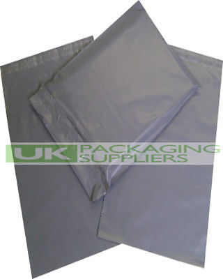 100 Plastic Packing Shipping Bags GREY 6 x 9