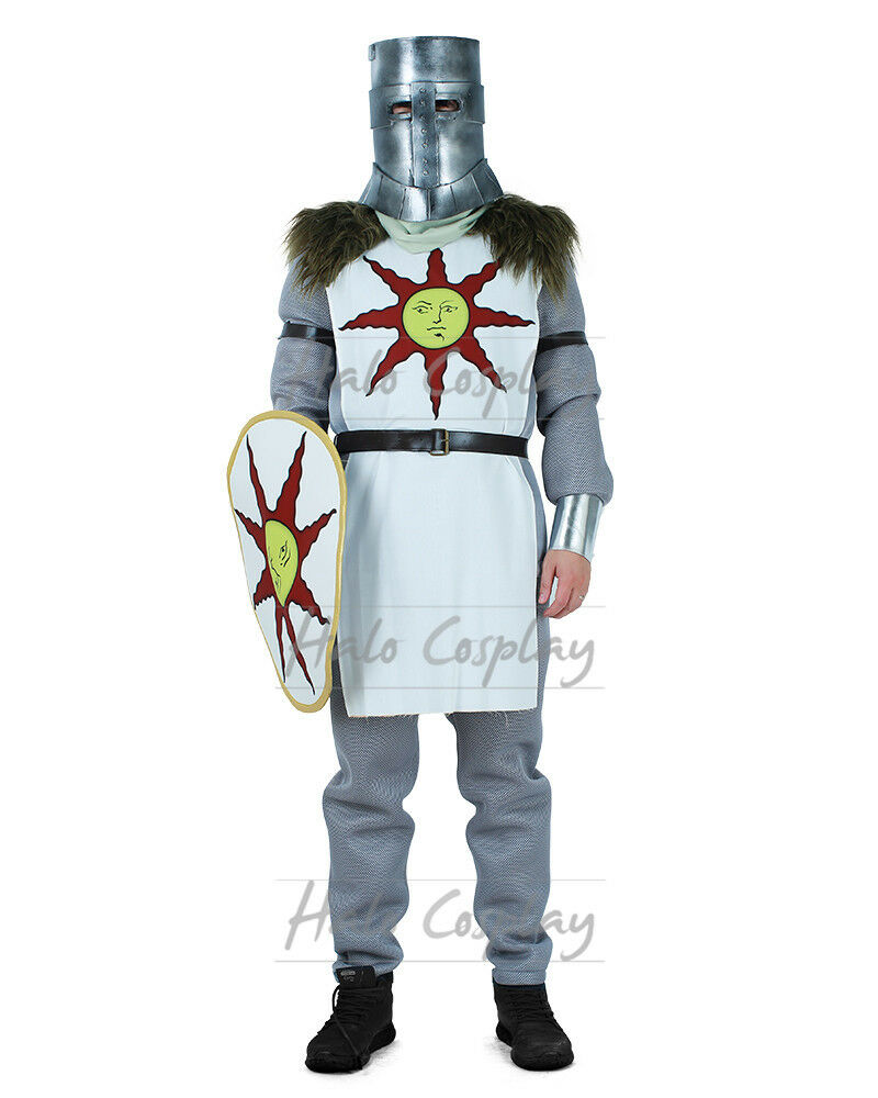 Details about Solaire of Astora CostumeWarrior of Sunlight Dark Souls 3  Cosplay Tabard Shield