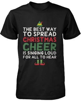 Men's Graphic Tees - Best Way to Spread Christmas Cheer Black Cotton