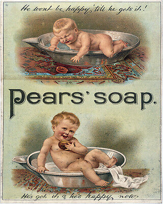 Pears Soap Baby - VINTAGE ADVERTISING ENAMEL METAL TIN SIGN WALL PLAQUE