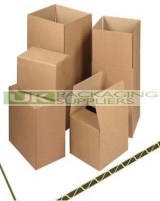 50 x Small Size Brown Postal Boxes 4x4x4