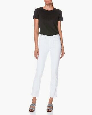 Paige Hoxton Straight Ankle High Rise Jeans 3360208-4520 Colour White Size 27
