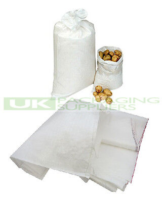 "50 LARGE WOVEN POLYPROPYLENE SACKS BUILDERS RUBBLE SAND BAGS 22 x 36"" - NEW"