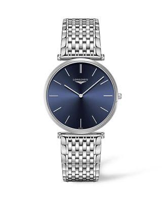 New Longines La Grande Classique Ladies Blue Dial Steel Watch L47664956 ()
