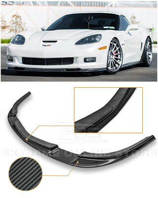 For 05-13 Corvette C6 Z06 | EOS ZR1 Style Carbon Fiber Front Bumper Lip Splitter for sale  Shipping to Canada