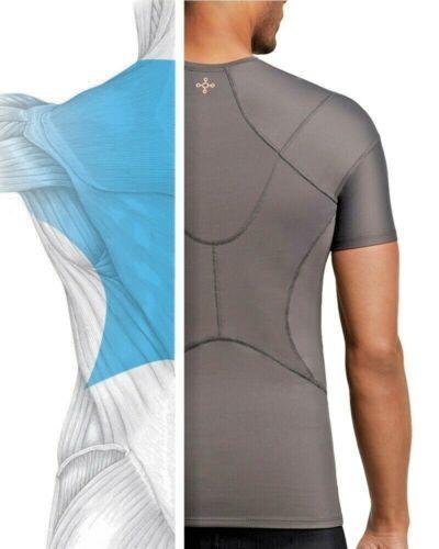 Tommie Copper Mens Pro Grade Short Sleeve Shoulder Upper Back Pain Support Shirt