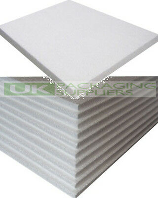50 WHITE POLYSTYRENE FOAM SHEETS EPS70 SIZE 600 x 400 x 10mm SDN INSULATION