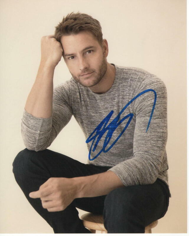 JUSTIN HARTLEY SIGNED AUTOGRAPHED 8X10 PHOTO - HOT, SEXY, THIS IS US STUD 2