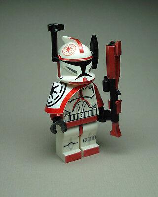 Lego Star Wars Clone Trooper Commander Arc Red Fox min figure (Custom Lego Star Wars Clone Trooper Minifigures)