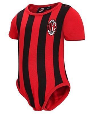 Body Neugeborenen gestreift Rot schwarz Kleidung offiziell AC. Milan PS 12685 ()