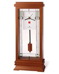 Frank Lloyd Wright Willits Mantel Clock by Bulova B1839 NIB