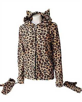 Darkside - Leopard Kitty Hood Fleece-Jacke (Leopard Kitty)