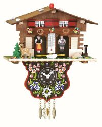 Black Forest Clock Swiss House Weather House TU 807 P NEW