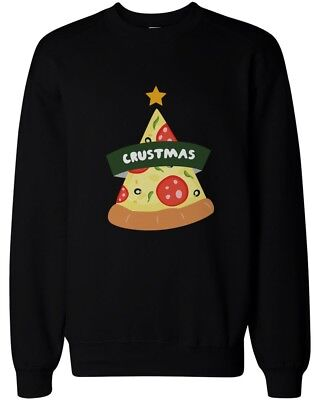 Crustmas Funny Christmas Sweatshirt Holidays Gifts Ideas For Pizza Lovers