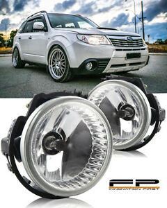 For 2009-2013 Subaru Forester Replacement Fog Light Lamp Housing Assembly Pair