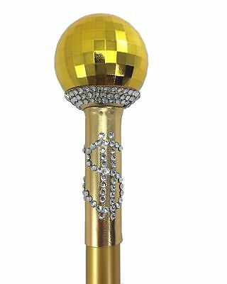 Goldener Zuhälter Stock zerlegbar Dandy Stock Pimp Stick für Herren-Kostüm gold