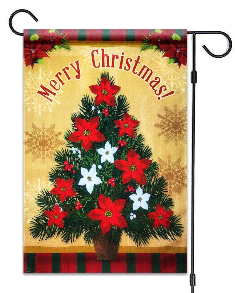 """Christmas Tree Merry Christmas Garden Flag 12""""X18"""" Christmas"""
