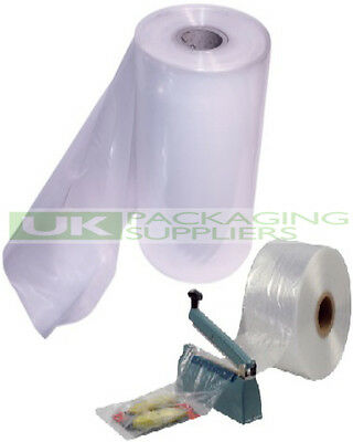 "3 ROLLS OF 12"" CLEAR LAYFLAT TUBING 250gauge POLYTHENE PLASTIC 336 METRES - NEW"