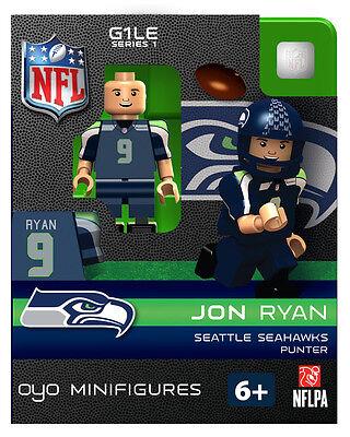 JON RYAN NFL SEATTLE SEAHAWKS Oyo Mini Figure  G1 RARE Blue