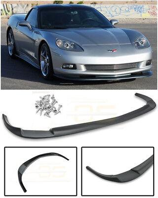For 05-13 Corvette C6 BASE   ZR1 Style PRIMER BLACK Front Lower Spoiler Splitter for sale  Shipping to Canada