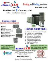 AC repair Furnace GAS line BBQ line Duct work 416.889.5255
