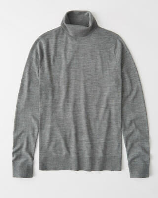ABERCROMBIE AND FITCH Lightweight Turtleneck Sweater Men's Size M Gray