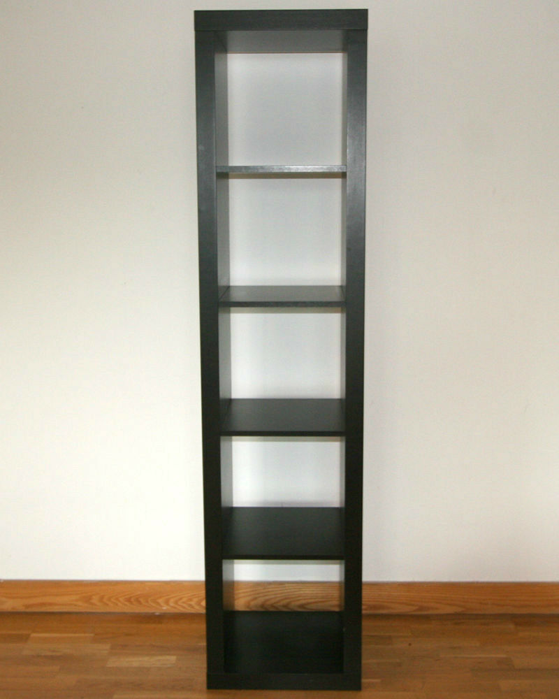 Ikea Shelving Unit bookcase Expedit Kallax, black brown storage tall, 2 available : in ...