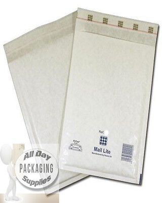 "1000 MEDIUM 8.5 X 13"" F3 MAIL LITE BUBBLE ENVELOPES PADDED MAILING BAGS WHITE"