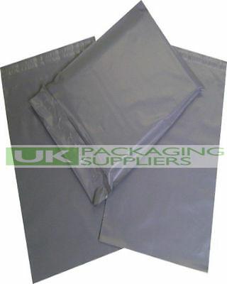 100 x GREY PLASTIC MAILING BAGS SIZE 6 x 9