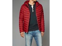 Abercrombie & Fitch Men Medium Designer Red Lightweight puffer Jacket RRP £140
