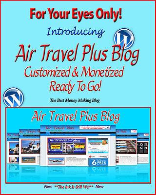 Air Travel Plus Blog Self Updating Website   Clickbank Amazon Adsense   Lot More